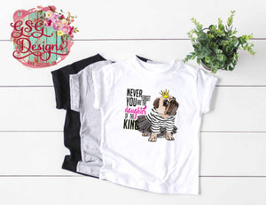 Daughter of the King Crowned Pretty Pug Sublimation Transfers