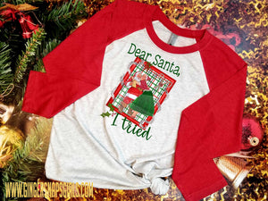 Dear Santa I Tried Mistletoe Christmas vintage style Sublimation Transfers