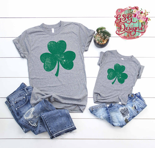 Distressed Shamrock St. Patrick's Day Digital Design File PNG