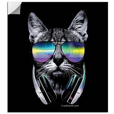 DJ Cat Sticker - Restocking 4/23