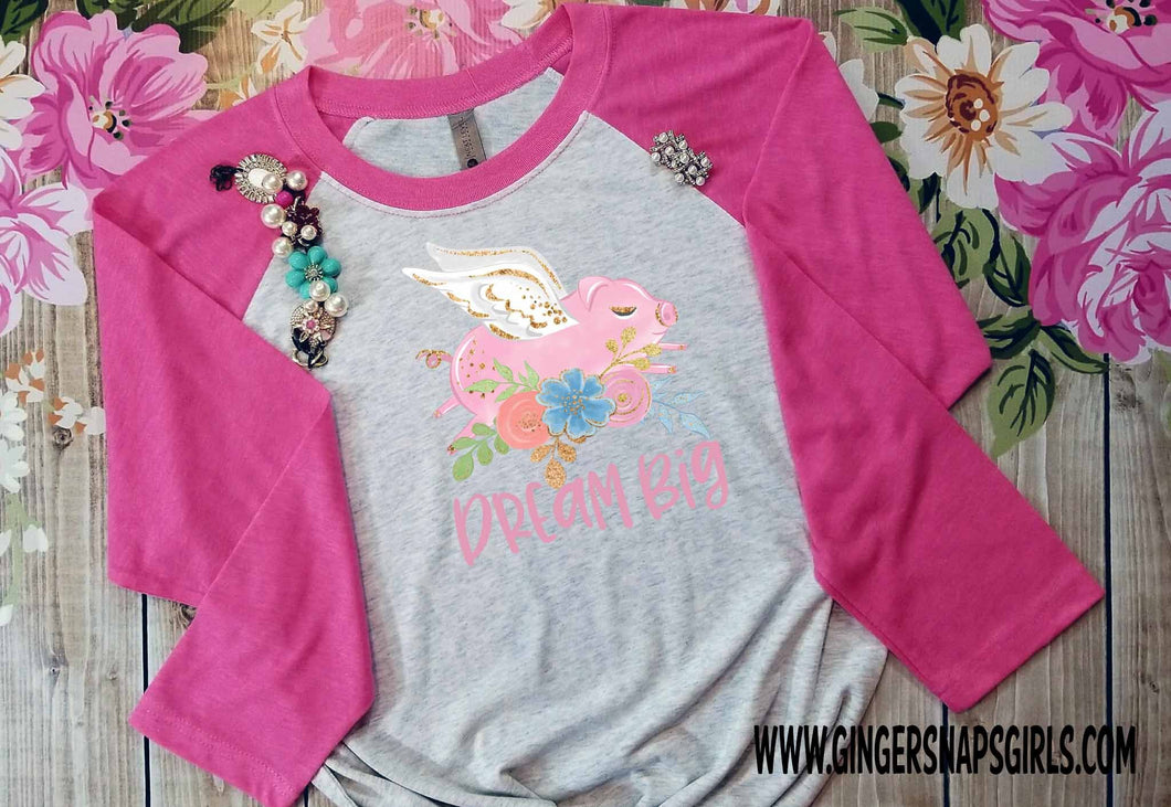 Dream Big Flying Pig Sublimation Transfers