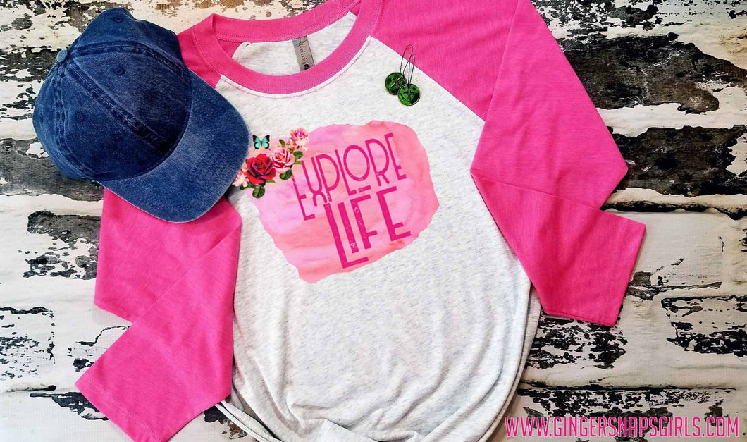 Explore Life Watercolor Vintage Rose Sublimation Transfers