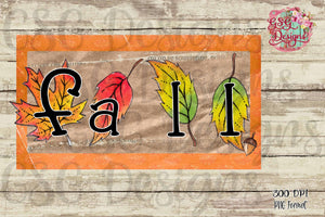 Fall Frame Digital Design File PNG