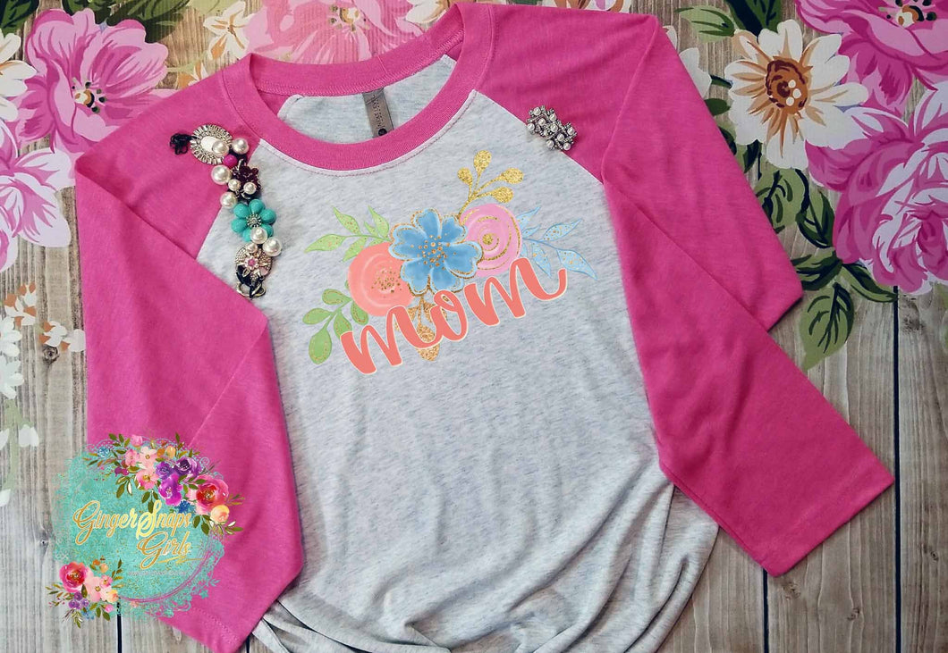 Floral Mom vintage style Sublimation Transfers