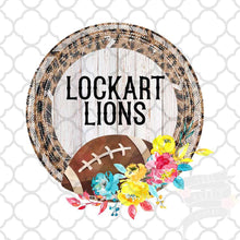 Load image into Gallery viewer, Leopard Football Frame vintage style Sublimation Transfers