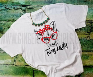 Foxy Lady Fox in Bandanna Sublimation Transfers