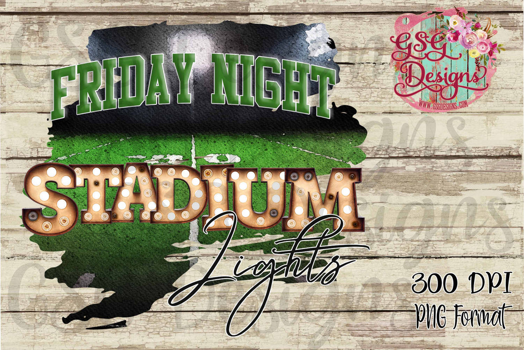 Friday Night Stadium Lights Sports Digital Design File PNG