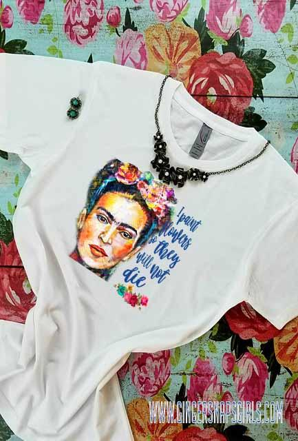 Frida Kahlo Floral Quote Sublimation Transfers