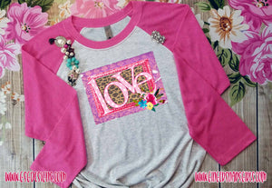 Funky Love Leopard and Pink Valentine's Day Digital Print and Sublimation Design File