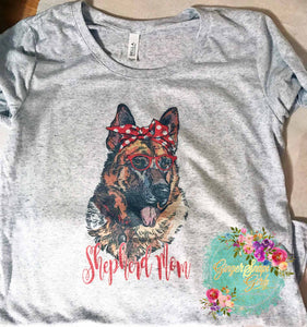 German Shepherd Mom Sublimation Transfers