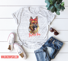 Load image into Gallery viewer, German Shepherd Mom Watercolor Design, Dog Mom Sublimation Digital Design File