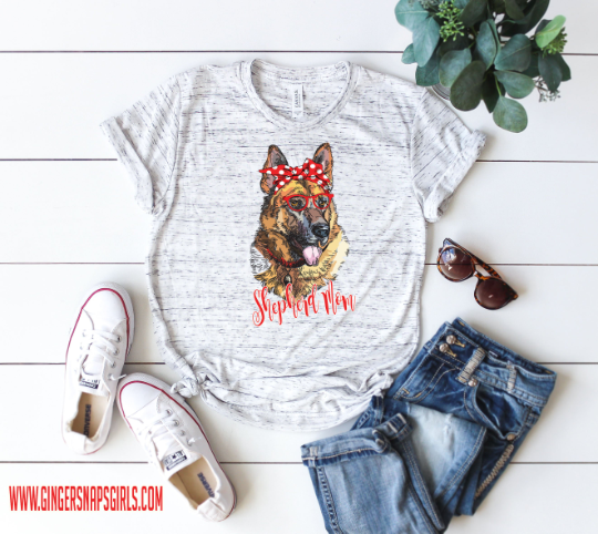 German Shepherd Mom Watercolor Design, Dog Mom Sublimation Digital Design File