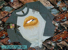 Load image into Gallery viewer, School & Team Spirit Custom Glitter Lips Sublimation Transfers