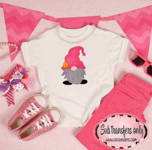 Gnome Pink Sublimation Transfers