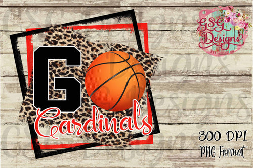 Go Basketball Leopard Custom School or Team Pride Sublimation Transfers
