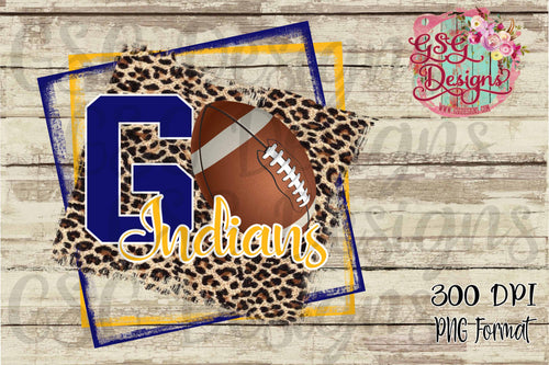 Go Football Leopard Custom School or Team Pride Sublimation Transfers