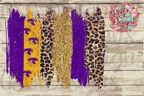 Custom Team or School Mascot Glitter Leopard Colors Brush Strokes Digital Design File .png