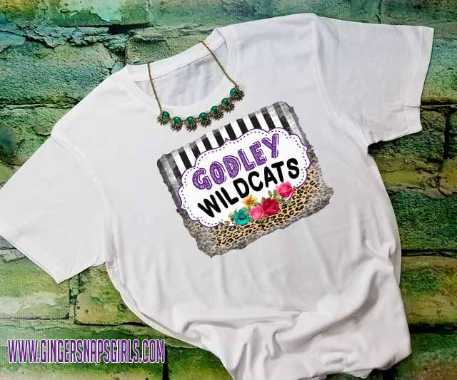 Custom School Pride Leopard, Black & White Stripe, Crayon, Funky vintage style Sublimation Transfers
