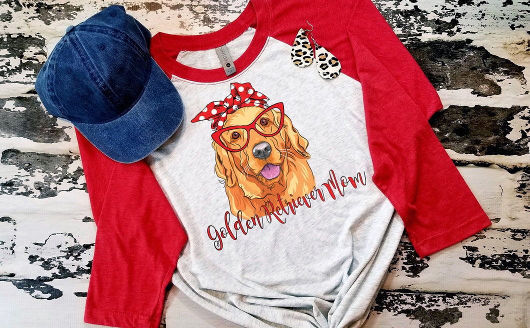 Golden Retriever Mom Digital Design, Dog Mom Sublimation Design File