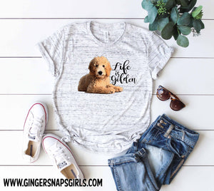 Goldendoodle Life is Golden Sublimation Transfers
