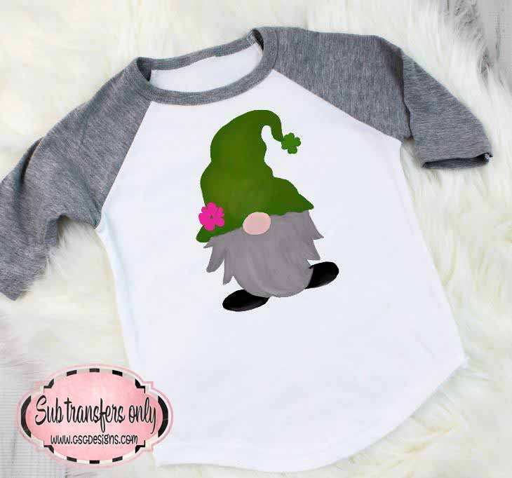 Gnome Green St Patrick's Day Sublimation Transfers