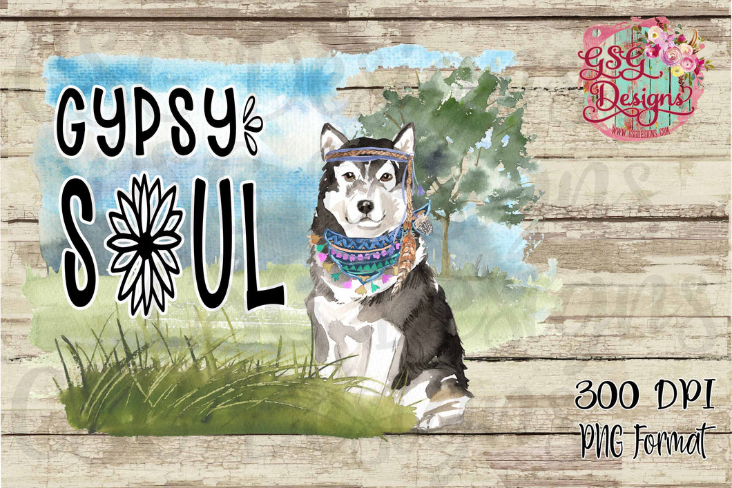 Gypsy Soul American Husky Sublimation Transfers