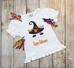 Halloween Kitten Witch Custom Cat Face Sublimation Transfers