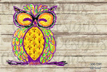 Load image into Gallery viewer, Halloween or Autumn Owl Doodle Digital Design File .png
