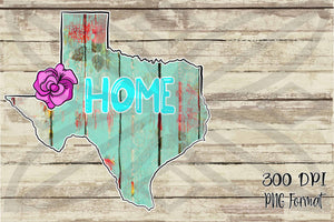 Texas Rose Hand Drawn Sublimation Transfers