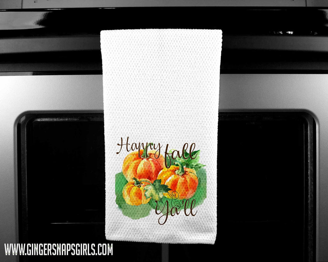 Happy Fall Ya'll Pumpkin Autumn Sublimation Transfers
