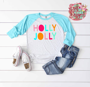 Holly Jolly Bright Sublimation Transfers