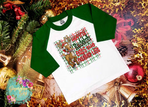 Hoping Rudolph Eats the Naughty List Christmas Reindeer Sublimation Transfers
