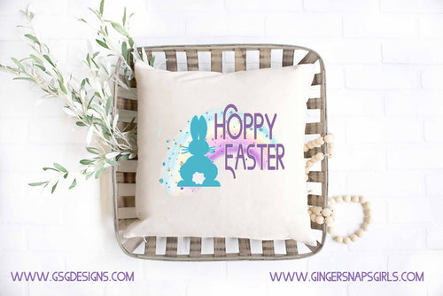 Hoppy Easter Bunny and Glitter Rainbow Digital Design File.