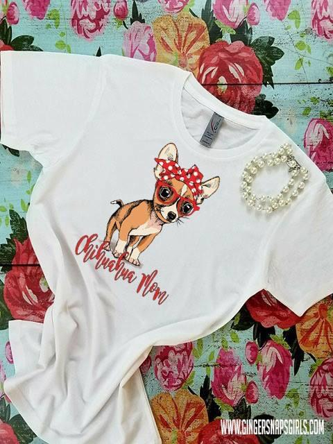 Chihuahua Mom , Dog in Bandanna Sublimation Transfers