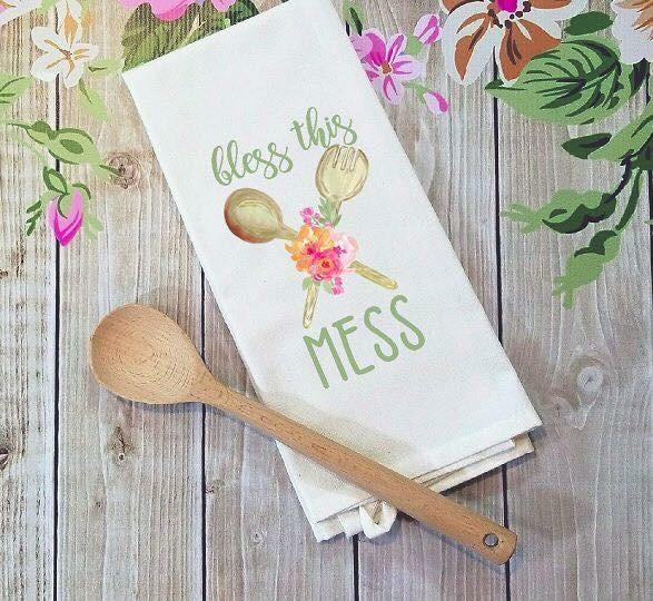 Bless this Mess floral kitchen Sublimation Transfers