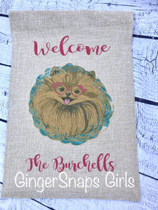 Pomeranian Love is a Four Legged Word Sublimation Transfers
