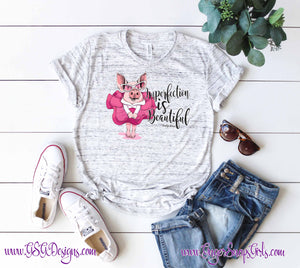 "Princess Pink Pig, ""Imperfection is Beautiful,"" Marilyn Monroe Quote Sublimation Transfers"