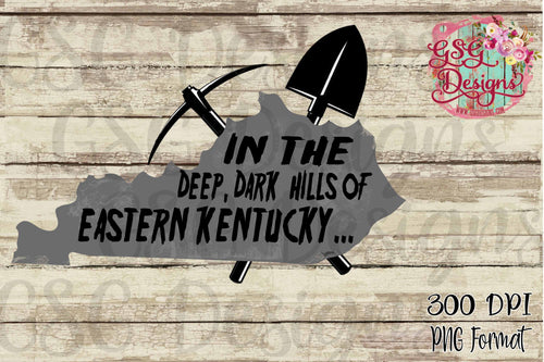 In the Deep Dark Hills of Easter Kentucky Coal Miner State Map Sublimation Transfers