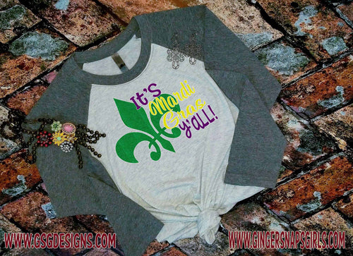 It's Mardi Gras Y'all Fleur de lis glitter Sublimation Transfers