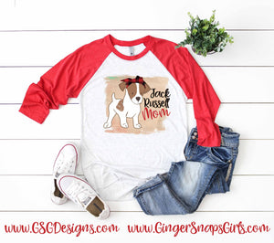 Jack Russell Mom Digital Design File PNG