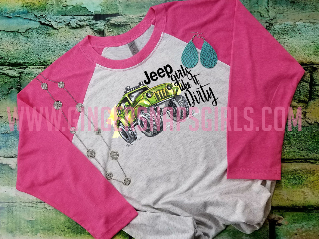 Jeep Girls Like It Dirty Punny Sublimation and Printable Digital Design File