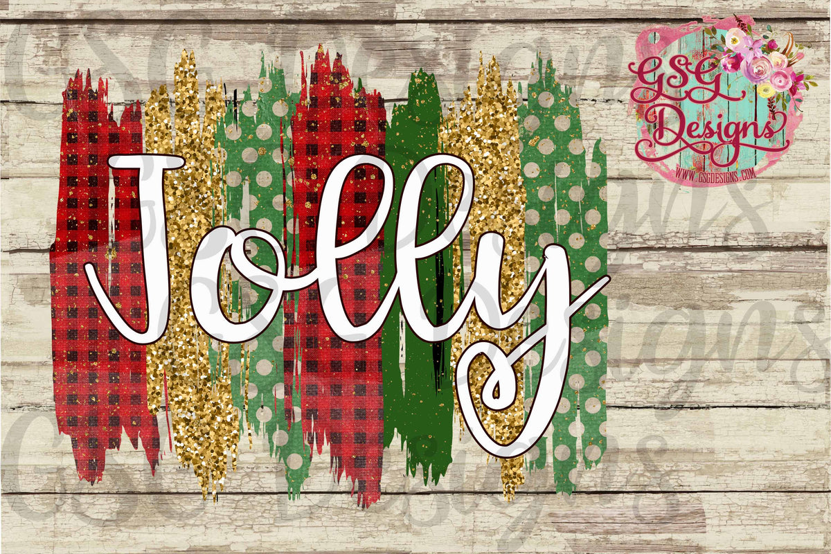 Jolly Christmas Brush Strokes Frame Sublimation Transfers