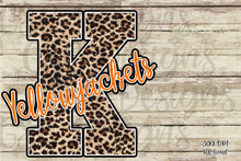 Load image into Gallery viewer, Custom School or Team Pride Leopard Letter and Mascot Sublimation Transfers