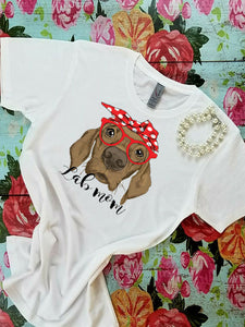 Lab Mom, Labrador Retriever in bandanna and glasses Sublimation Transfers