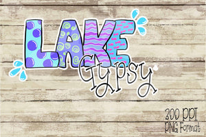 Lake Gypsy Hand Drawn Sublimation Transfers