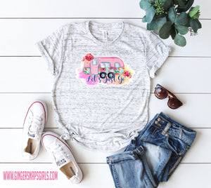 Let's Just Go Floral Camper Sublimation Transfers