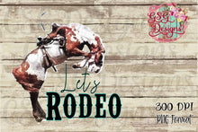 Load image into Gallery viewer, Let's Rodeo Printable and Sublimation Digital Design File PNG
