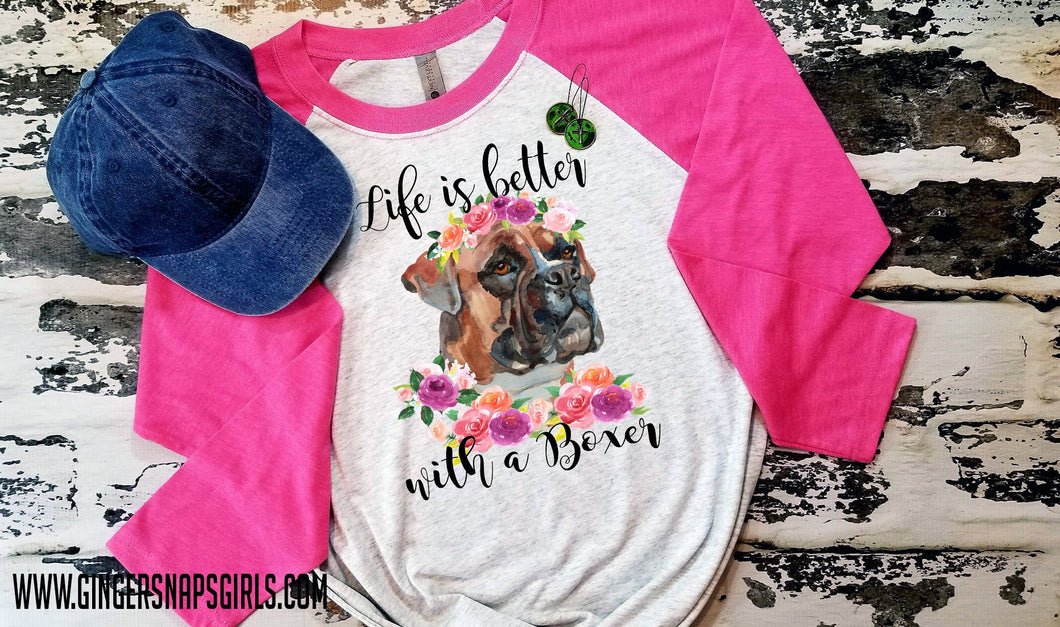Life is Better with a Boxer Watercolor Sublimation Transfers