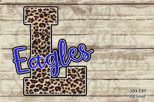 Custom Team or School Mascot Leopard Digital Design File PNG
