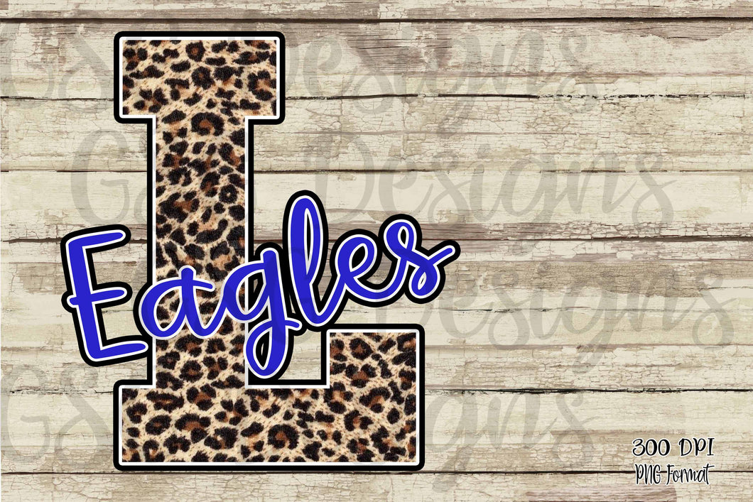 Custom School or Team Pride Leopard Letter and Mascot Sublimation Transfers